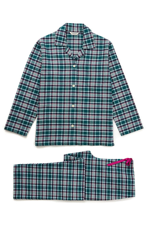 Brushed Tartan Pyjamas (tlps)- Purbeck | Bonsoir of London