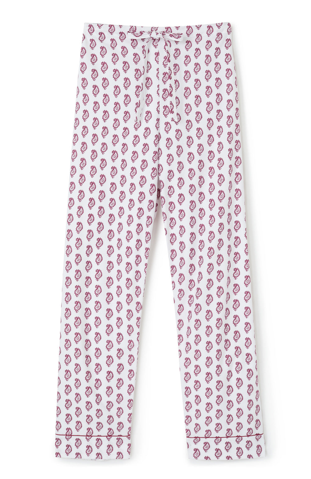 Brushed Cotton Berry Paisley Pyjama Trousers | Bonsoir of London