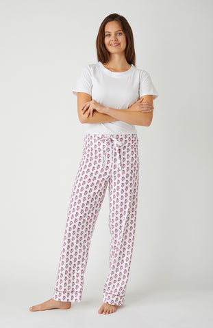 Brushed Cotton Pyjamas (Blps) - Pink Floral