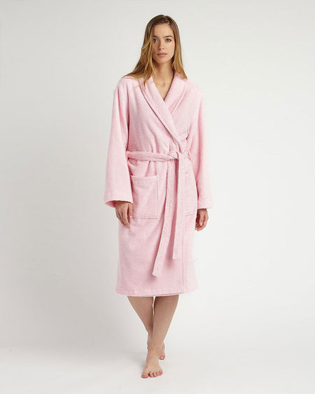 Women's Towelling Robe - Pink