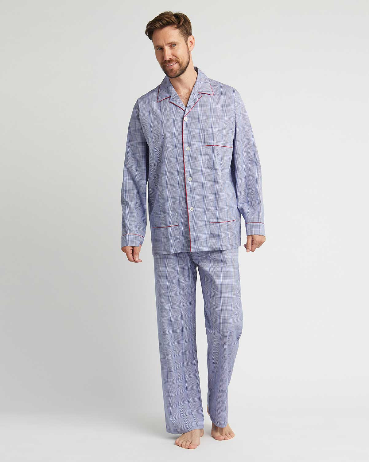 Men's Two-Fold Cotton Pyjamas - TF31