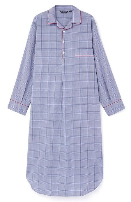 Men's Two-Fold Cotton Nightshirt (2mnm) - TF31
