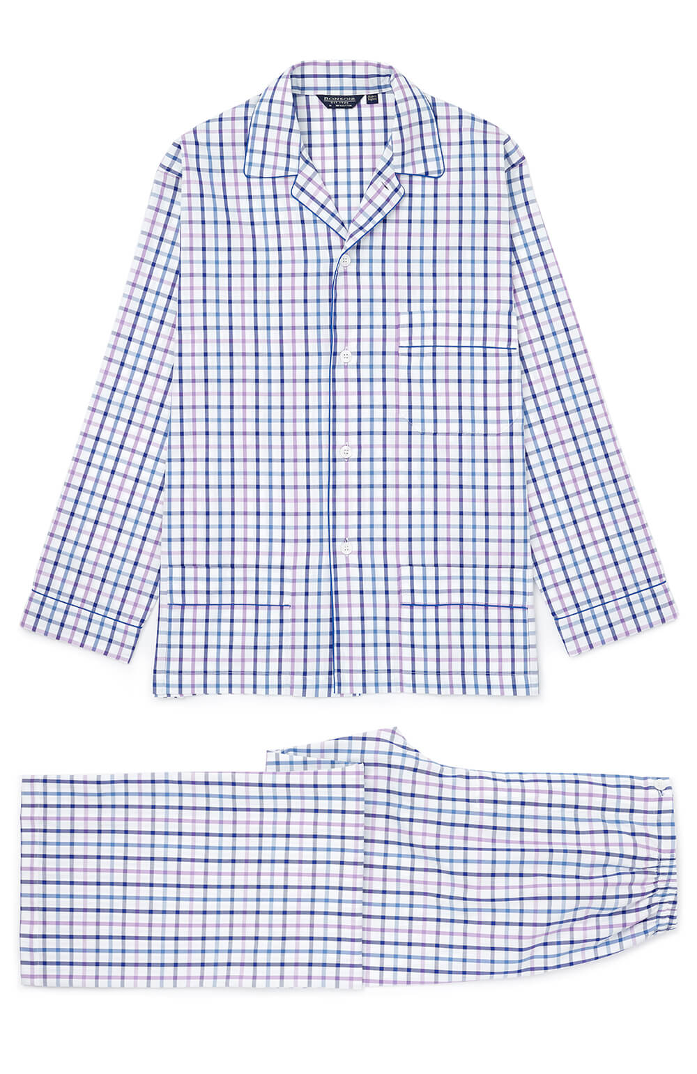 Men's Two-Fold Cotton Pyjamas (2mpe) - Tf32