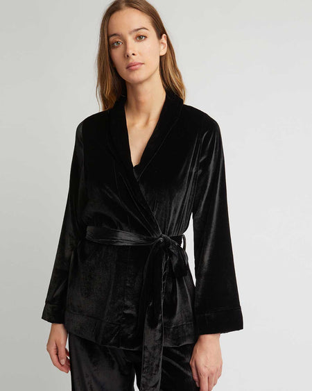 Women's Velvet Jacket - Black