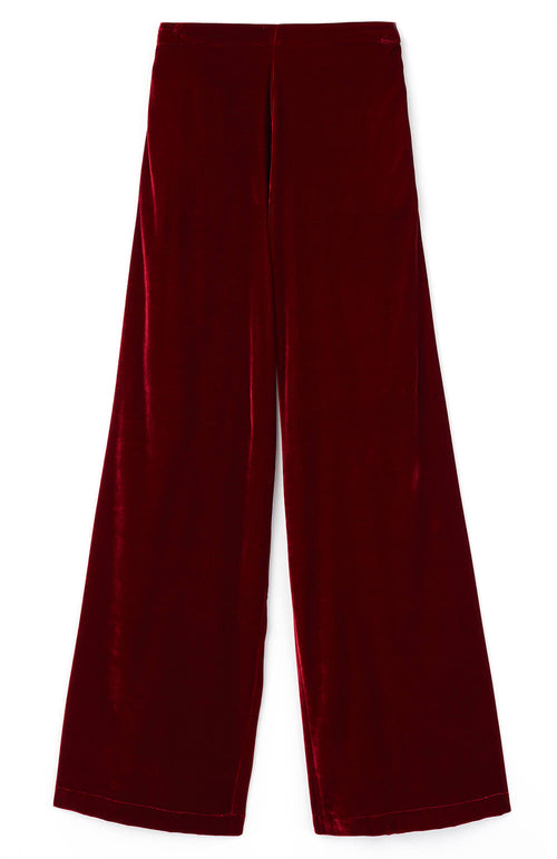 Stretch Velvet Trousers (lvtr) - Red
