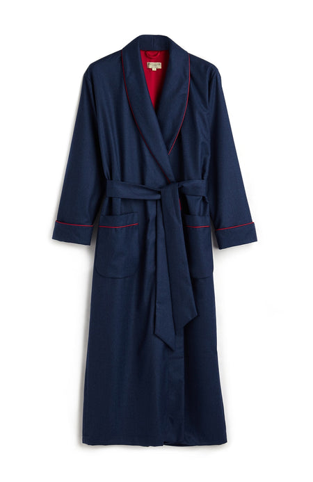 Italian Wool Robe (wbld)- Blue