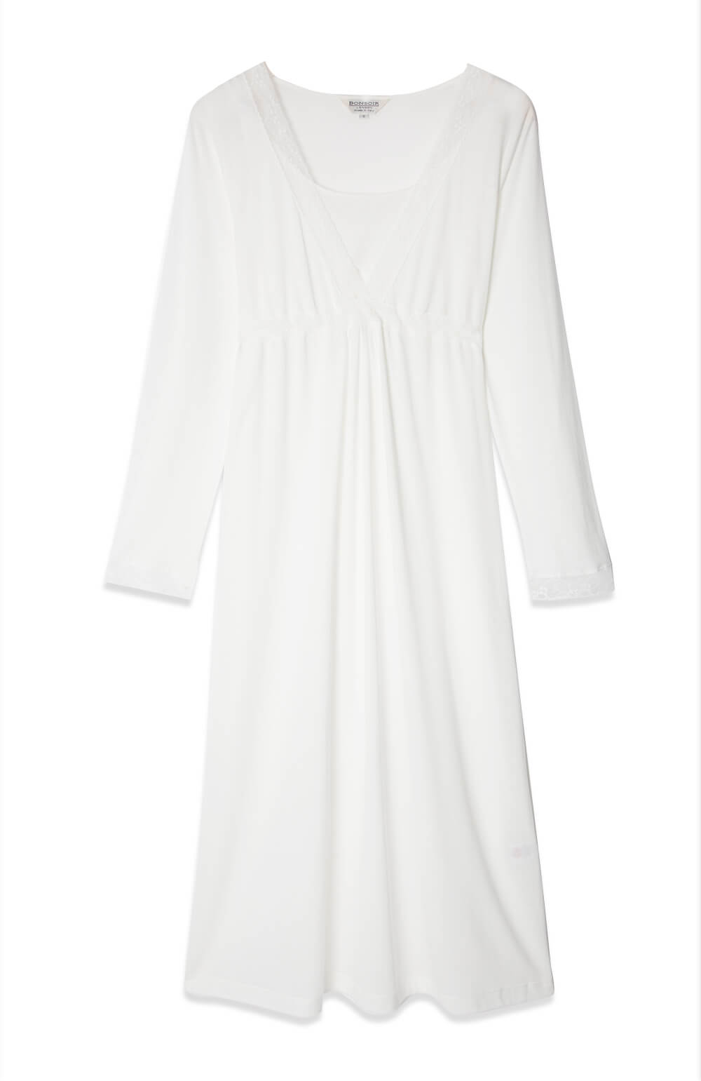 white jersey nursing nightgown maternity nightdress nightie