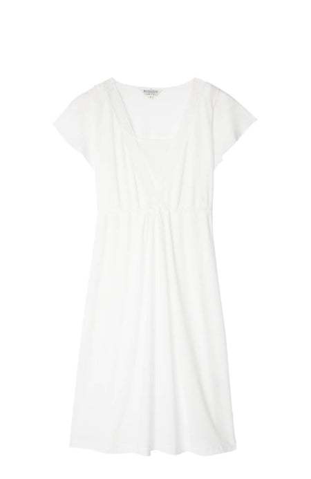 Maternity & Nursing Short Sleeve Jersey Nightdress (mlns) Antique White