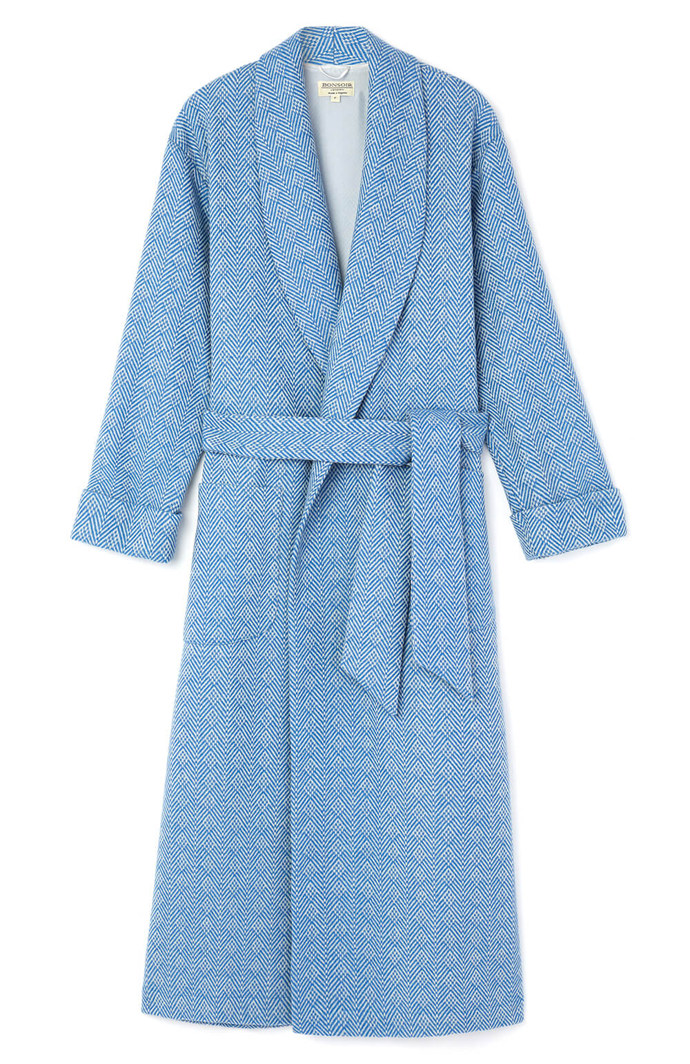 Luxury Blue Jacquard Women s Dressing Gown  00aad6aff