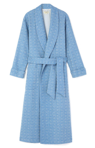 Silk-Lined Cashmere Robe (Call) - Navy