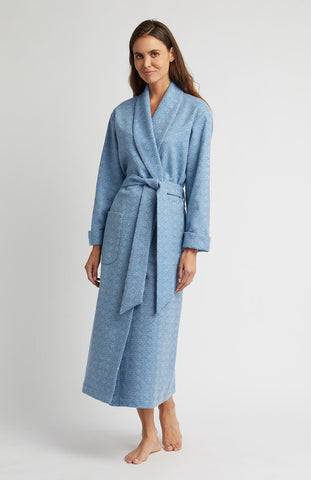 Brushed Cotton Gown (tldg) - Bright Blue
