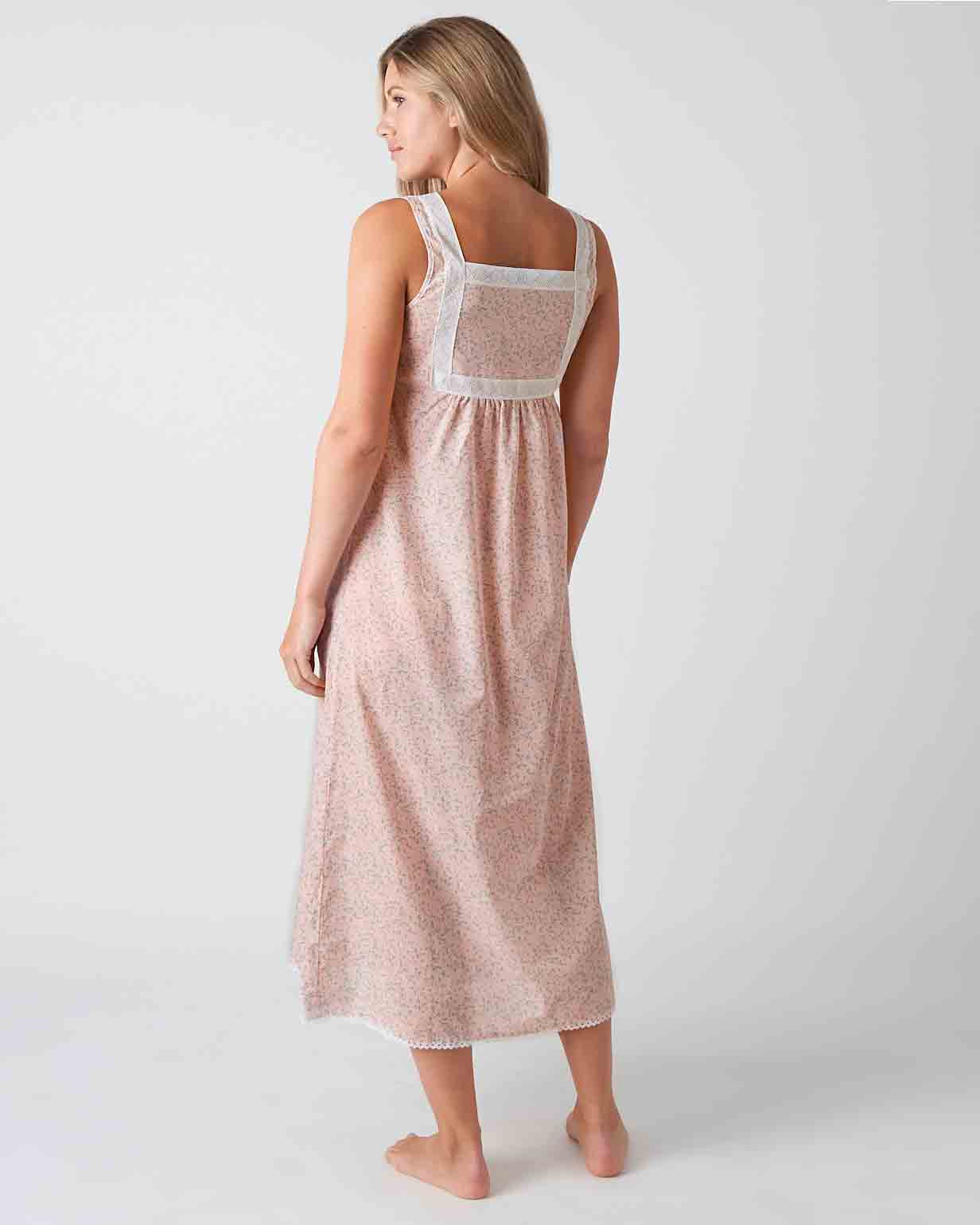 Women's Eliza Pink Blossom Nightdress | Bonsoir of London