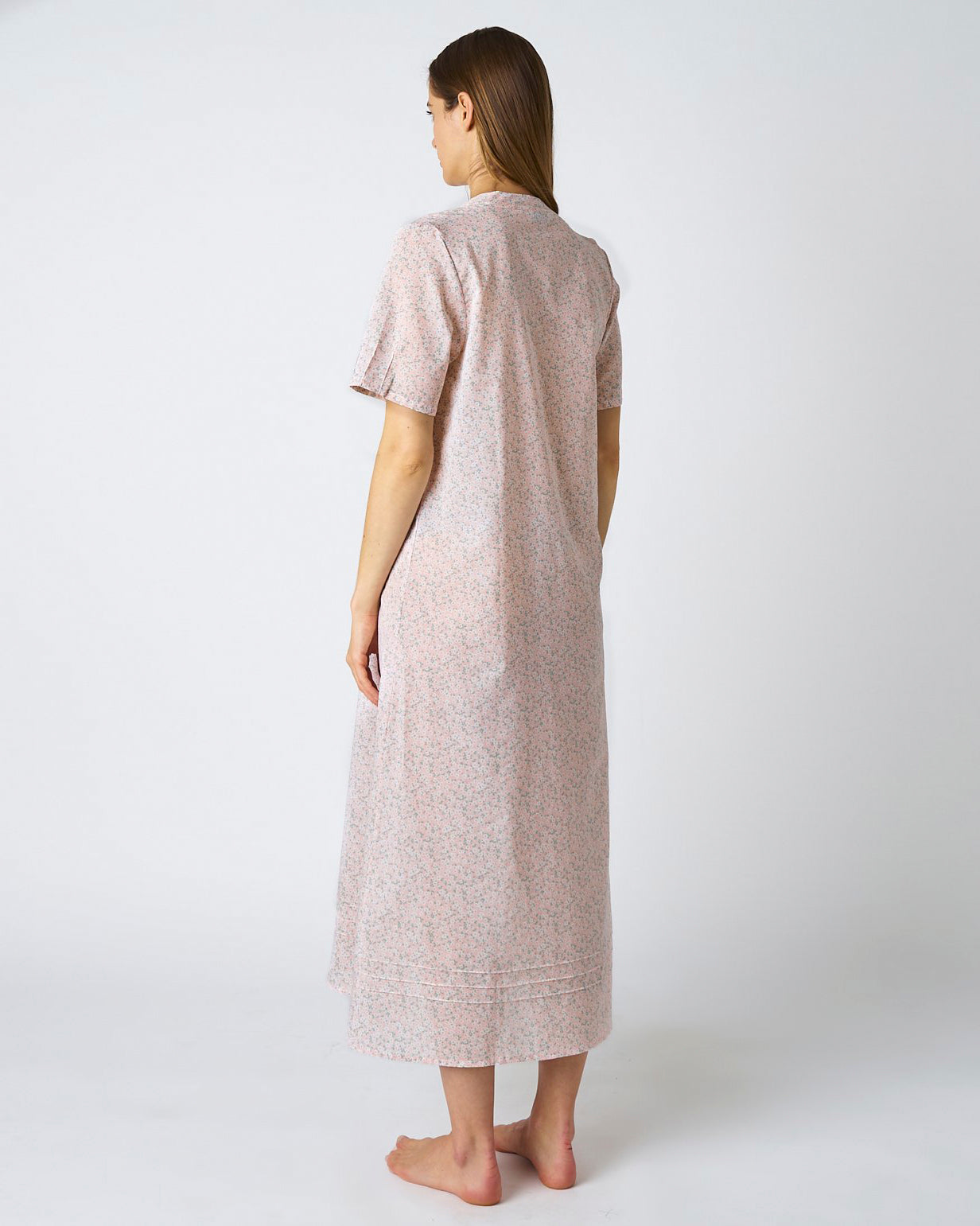 Women's Victoria Cotton Short Sleeve Nightdress - Pink Blossom