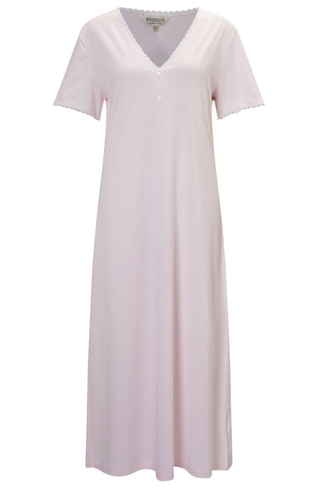 Dotty Nightdress (doty) - Pink | Bonsoir of London