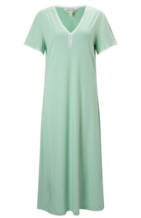 Dotty Nightdress (doty) - Aqua | Bonsoir of London
