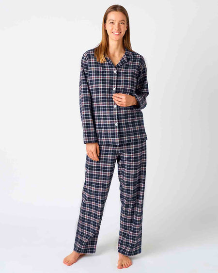 Women's Brushed Cotton Pyjamas - Hartley