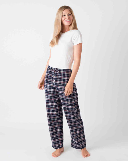 Women's Brushed Cotton Pyjama Trousers - Hartley Plaid