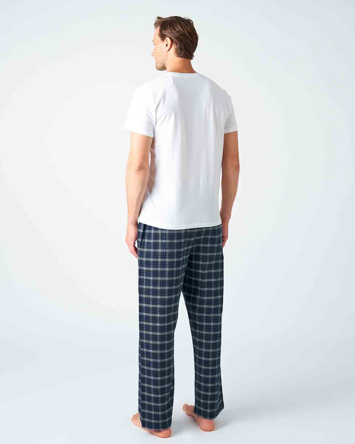 Men's Lorton Brushed Cotton Pyjama Trousers | Bonsoir of London