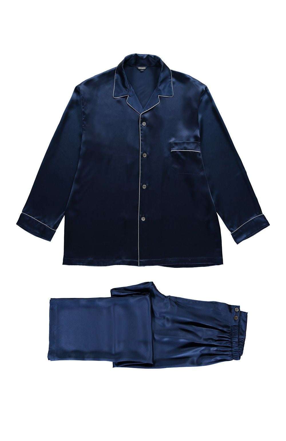SILK PYJAMAS - NAVY