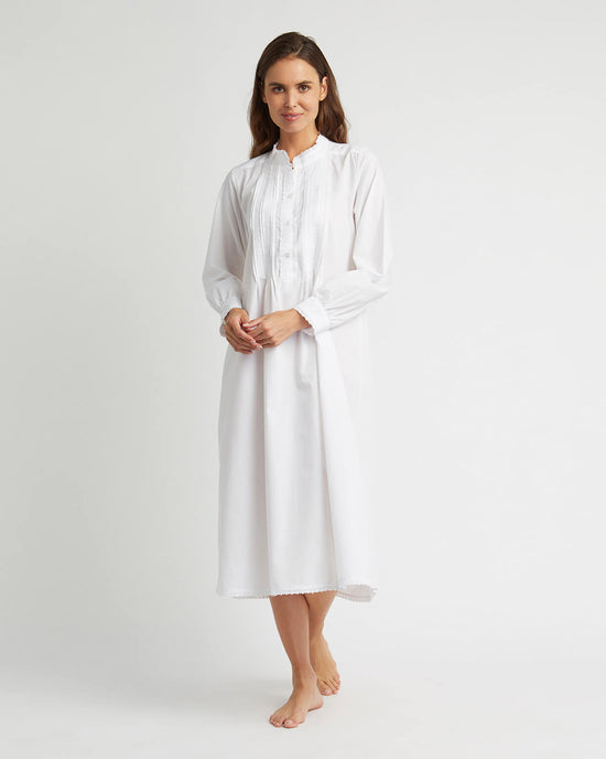 Women's Eliza Cotton Nightdress - White