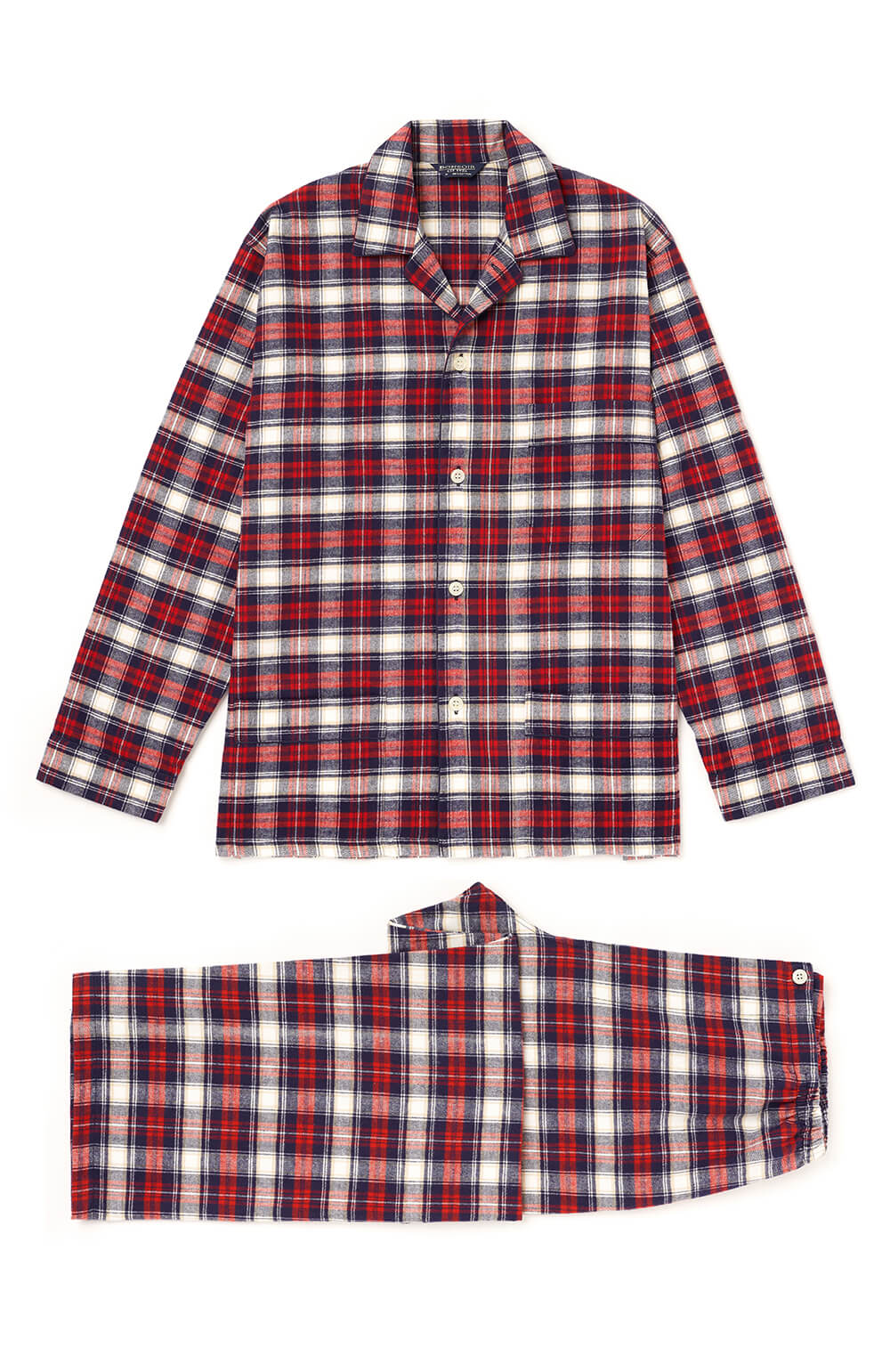 Men's Brushed Cotton Pyjamas - Stewart Plaid
