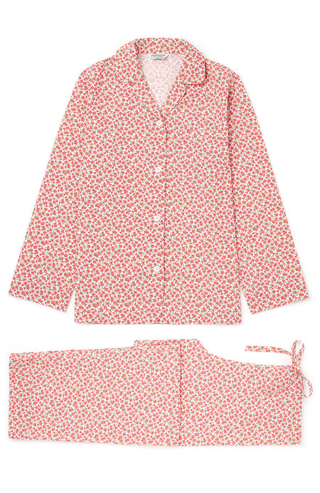 Classic Cotton Pyjamas (Clfp) - Red Floral