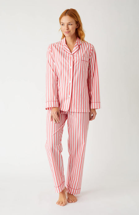 Classic Cotton Pyjamas (Clfp) - Red Stripe