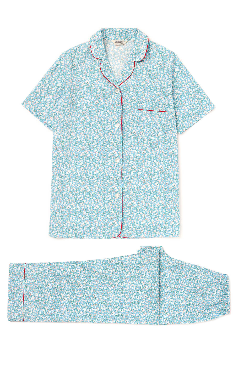 483e67cc Classic Cotton Short Sleeve Pyjamas (Clph) - Blue Floral | Bonsoir ...