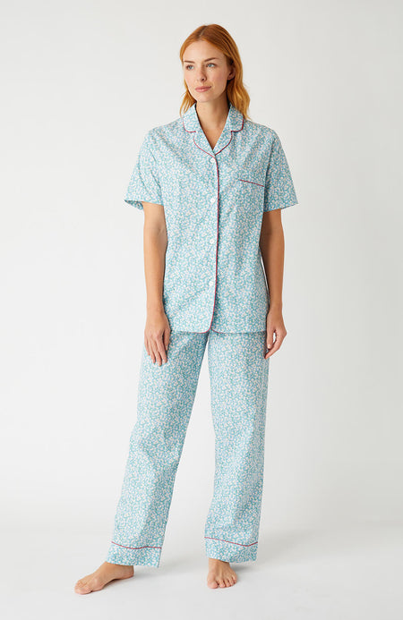 949438a044be Classic Cotton Short Sleeve Pyjamas (Clph) - Blue Floral