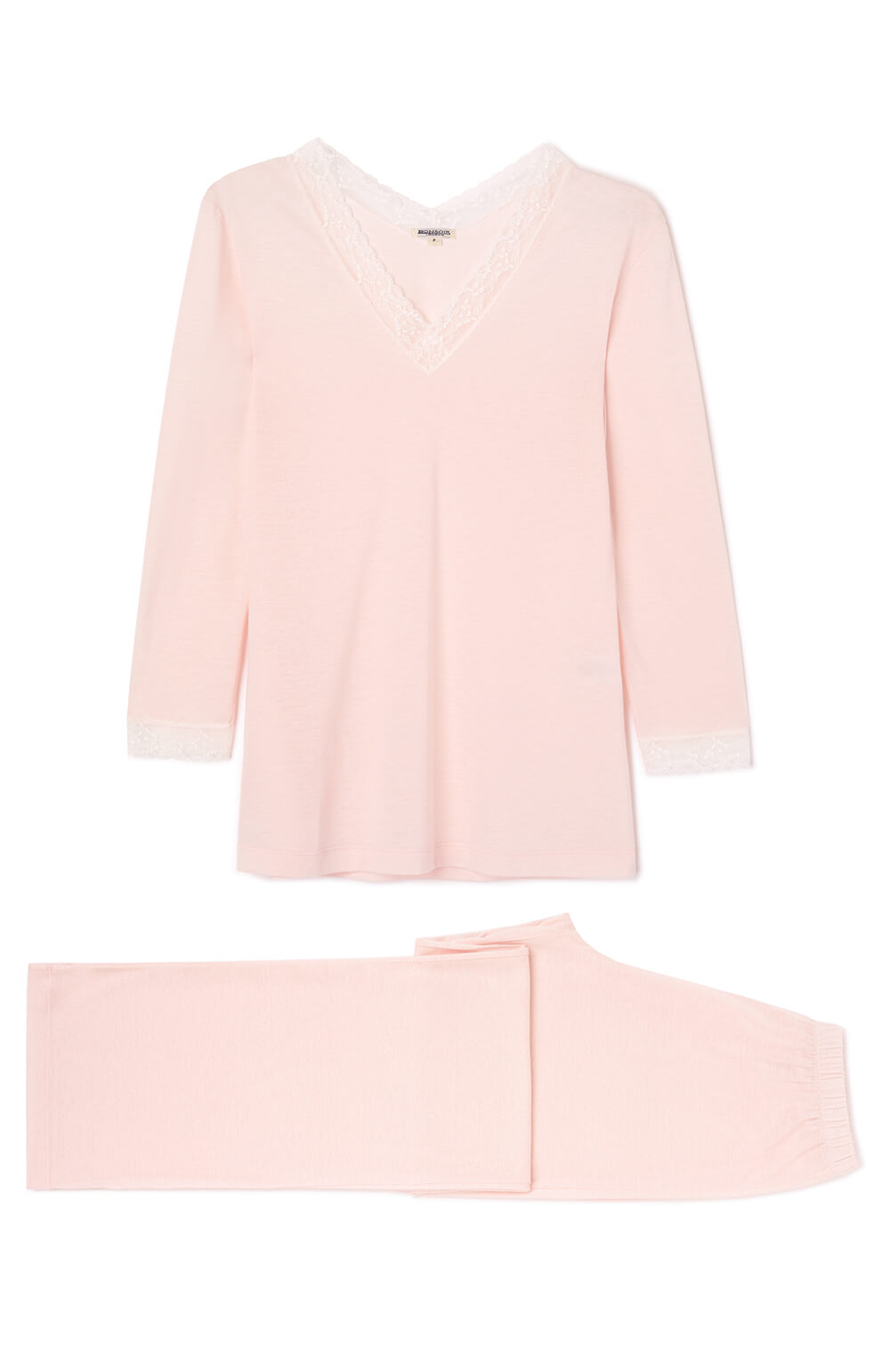 Ella Soft Pink Pyjamas | Bonsoir of London