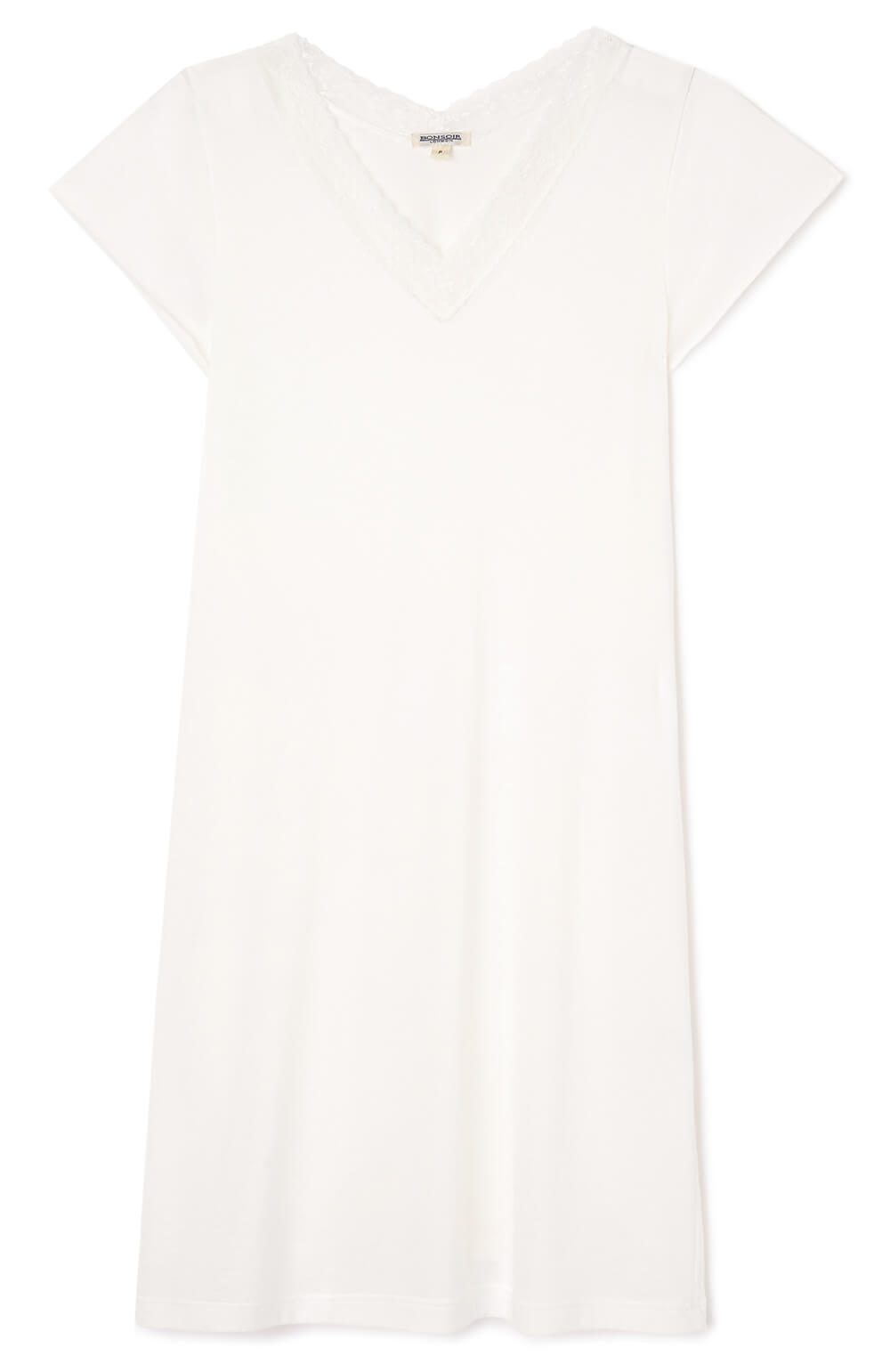 Women's Ella Antique White Short Nightdress | Bonsoir of London