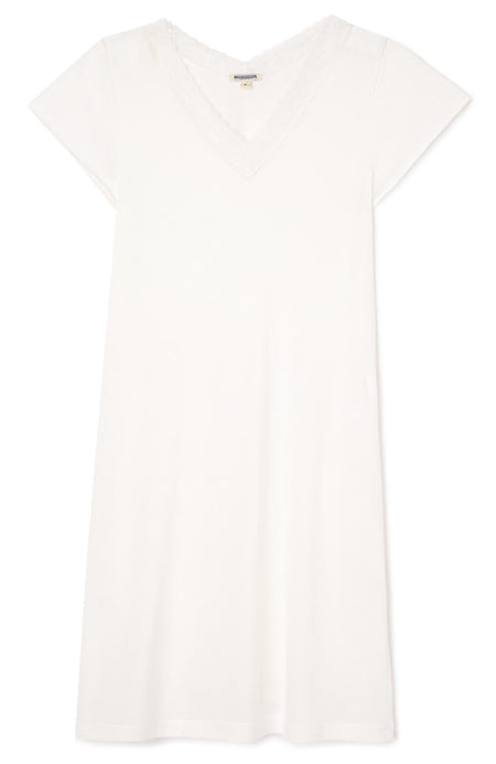 Ella Antique White Short Nightdress | Bonsoir of London