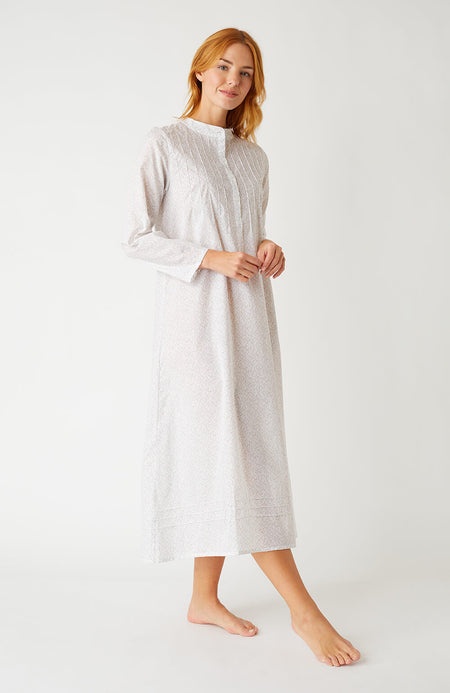 Grace Long Sleeve Nightdress (Grln) - Red Floral