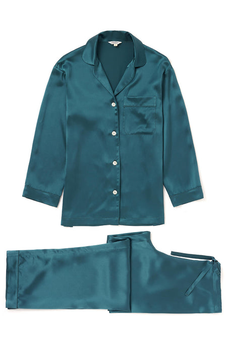 Silk Pyjamas (3b16) - Teal