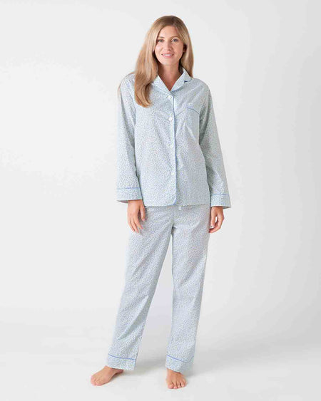 Women's Classic Cotton Spring Flower Pyjamas | Bonsoir of London