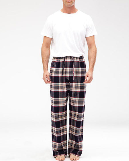 Men's Brushed Cotton Pyjama Trousers - Stewart Plaid