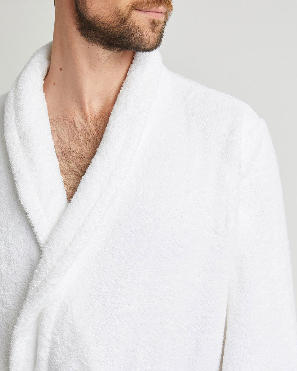 Unisex Cotton Towelling Robe - White