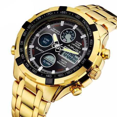 Gold Relogio Watch