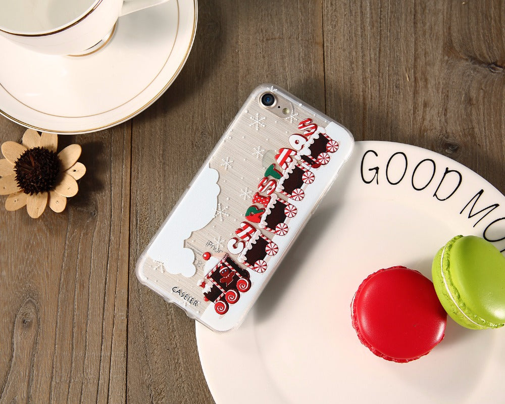 Christmas Phone Case Iphone 7.Christmas Phone Case For Iphone 8 8 Plus 7 6 6s Plus Soft Tpu For Iphone 5s Se 5 Silicone Cases Cute Back Cover Shell