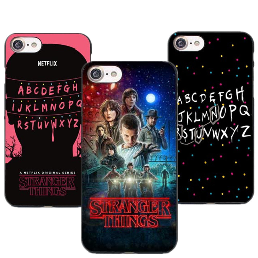 sale retailer 43442 cc79c Stranger Things Hard Phone Case For iPhone X 8 8Plus Christmas Lights Cover  for iPhone 5 5S SE 6 6S Plus 7 7Plus