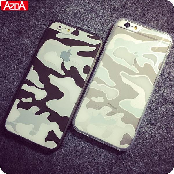 finest selection 8af46 0f3a7 Crystal Transparent Clear Camouflage Cover Coque For iPhone 6 6s Case For  iphone 6s plus case Silicone Series Soft Premium