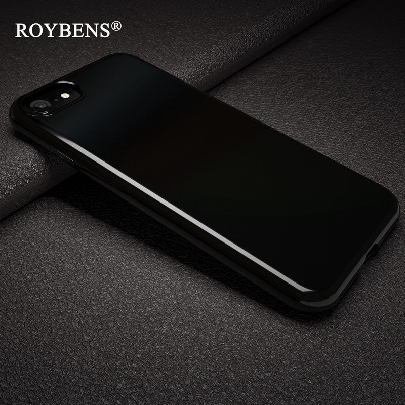 the best attitude 6c1c1 d0703 Roybens Originality Jet Black Soft Case For iPhone 7 Plus iPhone 7 Silicone  Bright Black Glossy TPU Back Protection Phone Cases