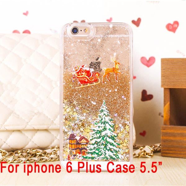 Iphone 6 Plus Christmas Case.Hot Cute Santa Claus Glitter Star Flowing Liquid Case For Iphone 5 5s 6 6plus Christmas Tree Transparent Clear Cover Phone Cases