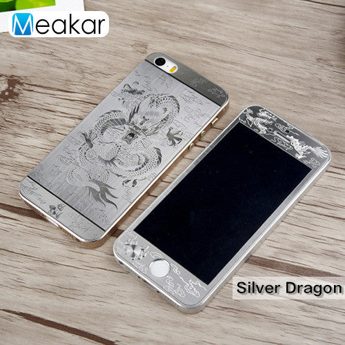 premium selection d5707 073d7 3D Relief Full Cover 4.0For iPhone 5s Case Tempered Glass Film Screen  Protector For Apple iPhone 5s 5 se Phone