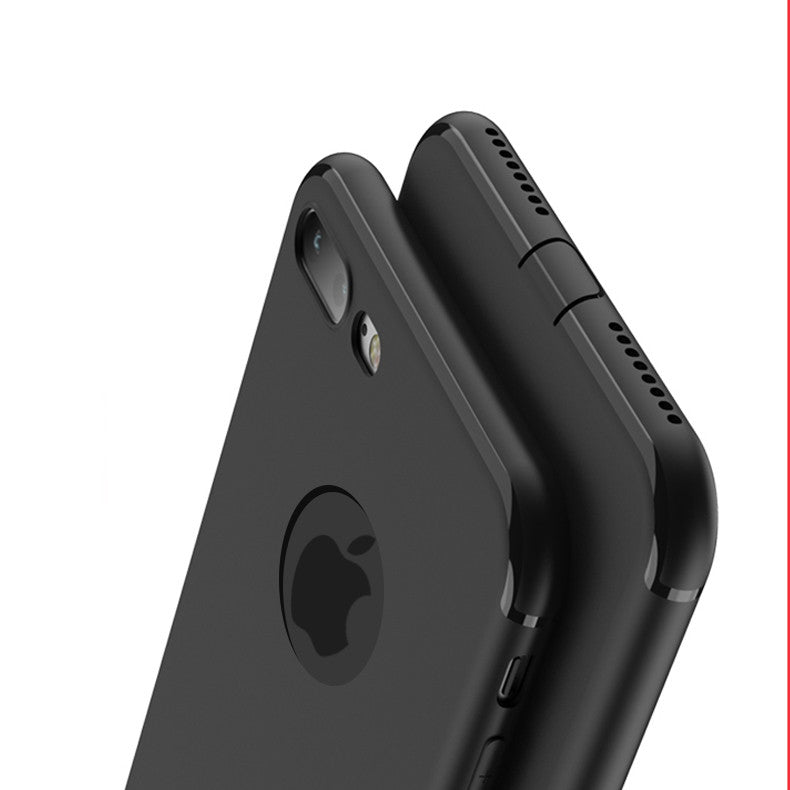 best sneakers 5c071 43ccf Fashion Black Rubber back cover for Apple iphone 6 case Soft Silicon case  with logo window for iphone 7 6s plus case