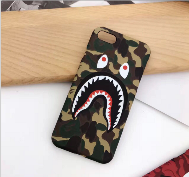 new products 9e03d d2073 Hot Top Quality Cool Fashion Bape Shark Case For iPhone 7 6 6s Plus Bape  Shark Army Phone Case Cover For iPhone 6 6s Hard Matte