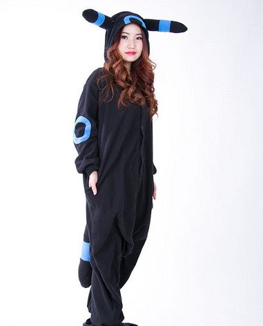 389bc9ae7db7 Adult Anime Pokemon Cosplay Costume Black Pikachu Umbreon Onesie Unisex  Cartoon Pajamas Party For Female Male