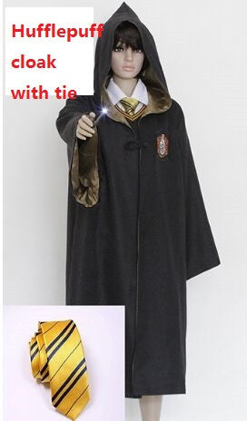 kids halloween dress up disfraz harry potter cosplay costumes adult gryffindor robe cloak hogwarts magic academy party robe tie