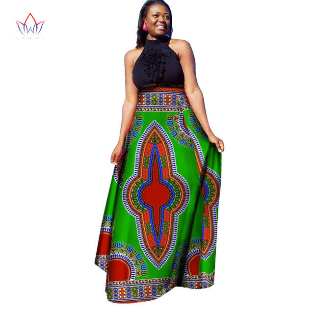 a1df81bb3efee Women Colorful Long Skirt Long African Skirt Maxi Skirt Retro Fashion Plus  Size Women Clothes Print Skirts 6XL BRW WY1370