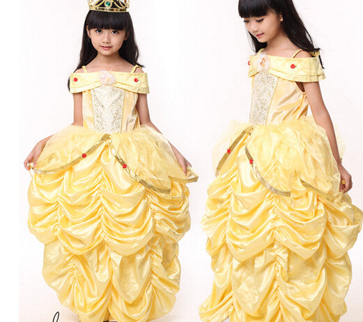 princess belle halloween beauty and the beast costume kid child girl 100 140cm gifcostume suit fancy dress cosplay costume